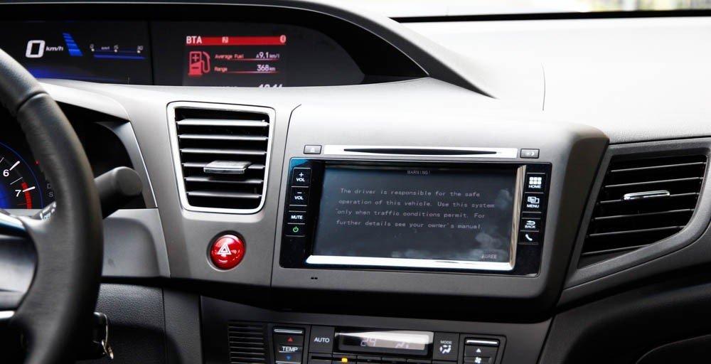Hệ thống nghe nhìn của Honda Civic 2015 khác nhau ở các phiên bản khác nhau 1