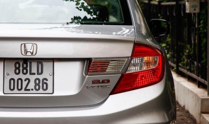 Đèn hậu của Honda Civic 2015 có kích thước lớn 1