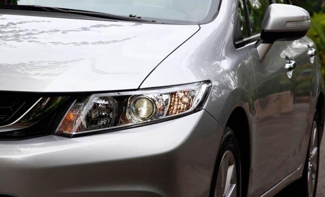 Đầu xe honda Civic 2015 được thiết kế đậm chất thể thao 1