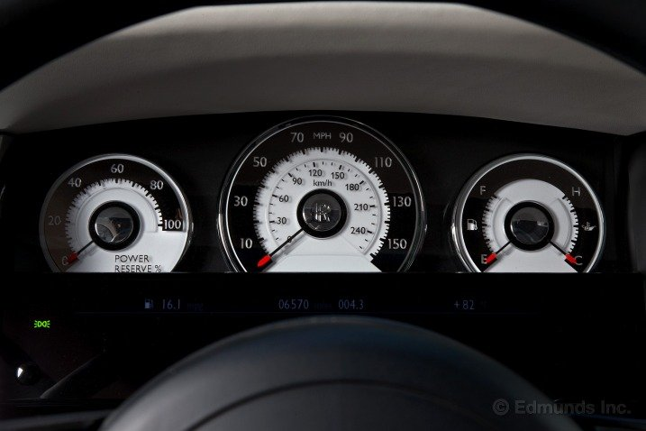 Bảng đồng hồ của Rolls-Royce Wraith Coupe 2014 1