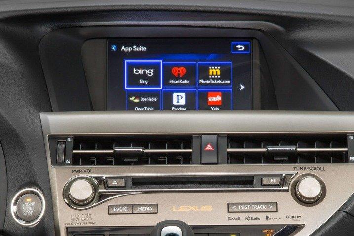 Trang bị tiện nghi Lexus RX 350 2015