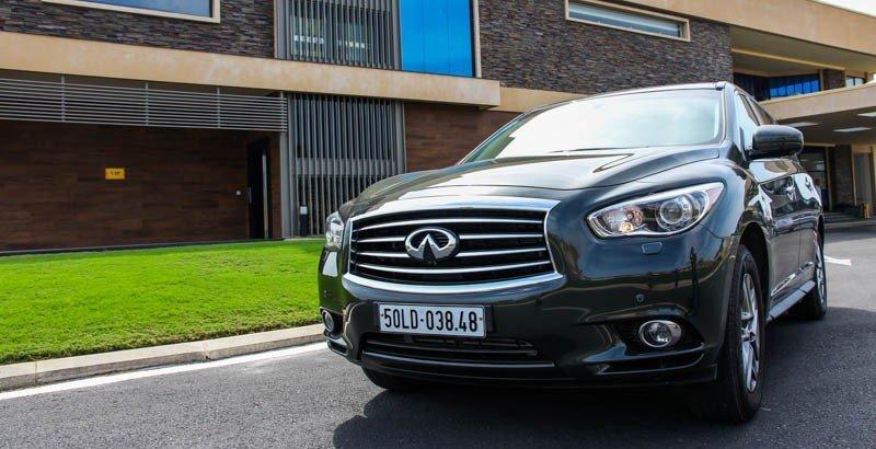 Đầu xe Infinitive QX60 2015 taiojaans tượng mạnh mẽ với những đường nét thiết kế mềm mại 1