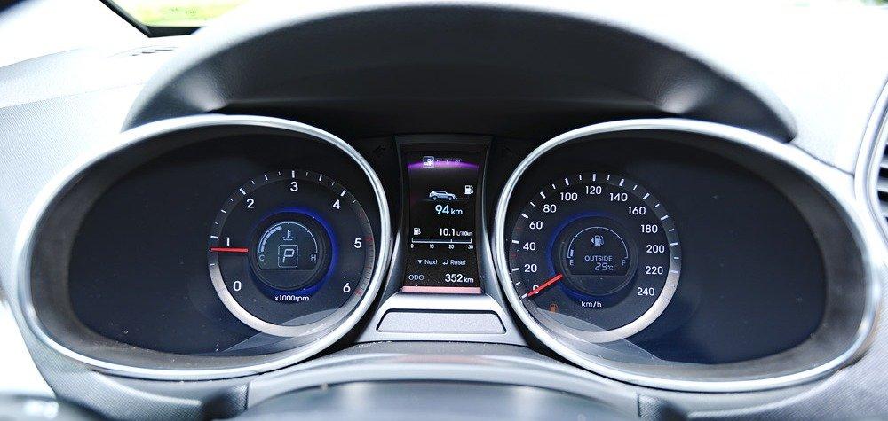 Đánh giá nội thất xe Hyundai Santa Fe 2014