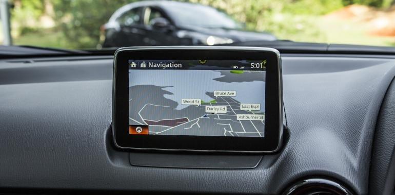 Màn hình cảm ứng của Mazda CX3.