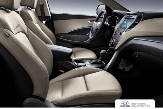 Nội thất không nhiều thay đổi của Hyundai SantaFe phiên bản nâng cấp 1