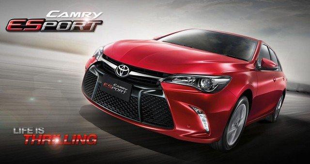 Toyota Camry ESport tại Thái Lan có dáng vẻ giống phiên bản tại Mỹ và Úc.