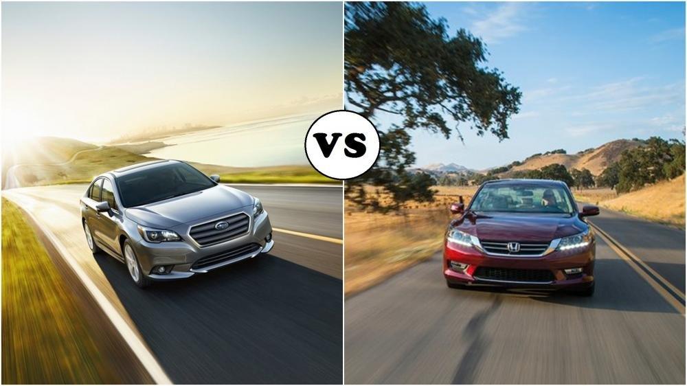 So sánh Subaru Legacy và Honda Accord.