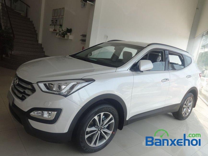 Cần bán Hyundai Santa Fe năm 2015, màu trắng, nhập khẩu-2