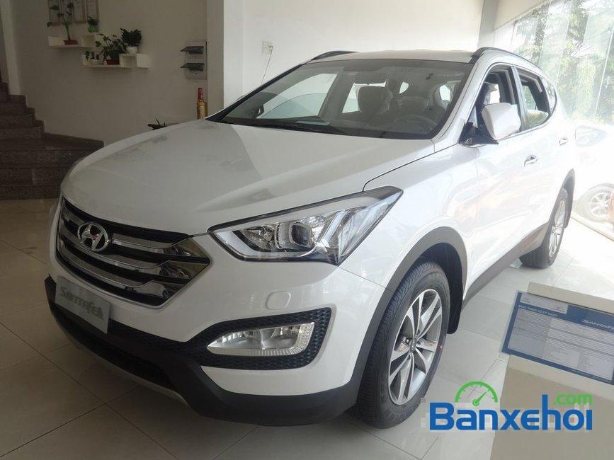 Cần bán Hyundai Santa Fe năm 2015, màu trắng, nhập khẩu-1