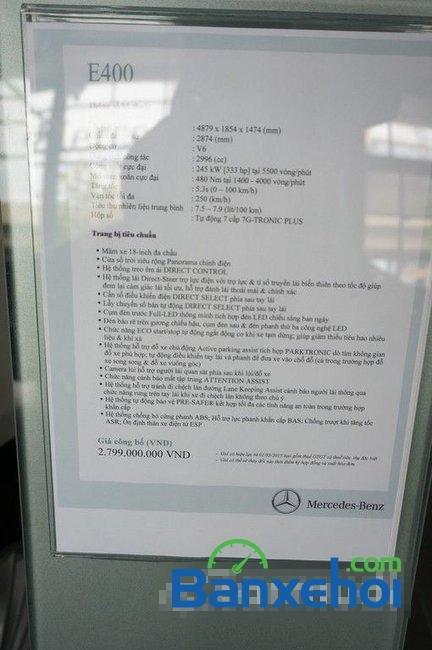 Hãng xe bán xe Mercedes E400 đời 2015, màu trắng-3