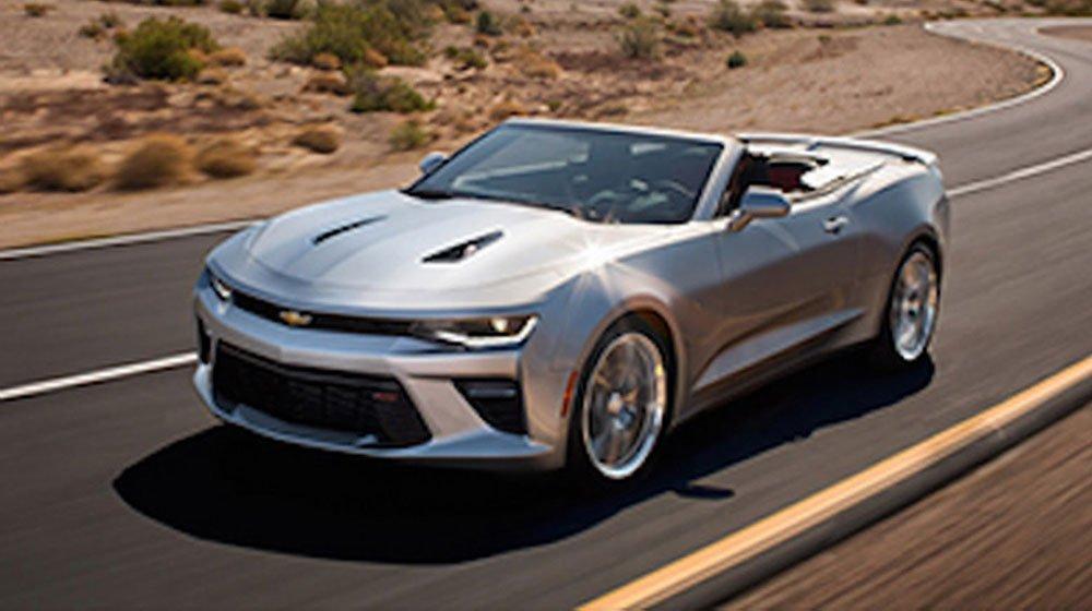Hình ảnh Chevrolet Camaro mui trần 2016 bị lộ trên website của hãng Chevrolet.