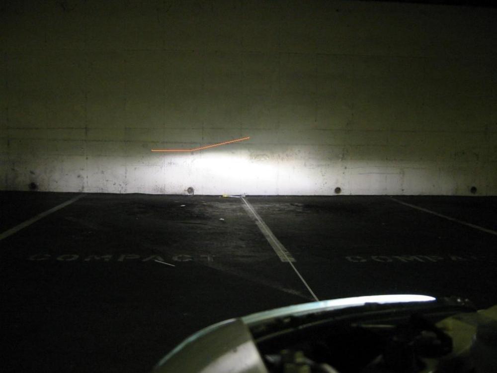 Điều chỉnh chùm sáng phía lái xe.