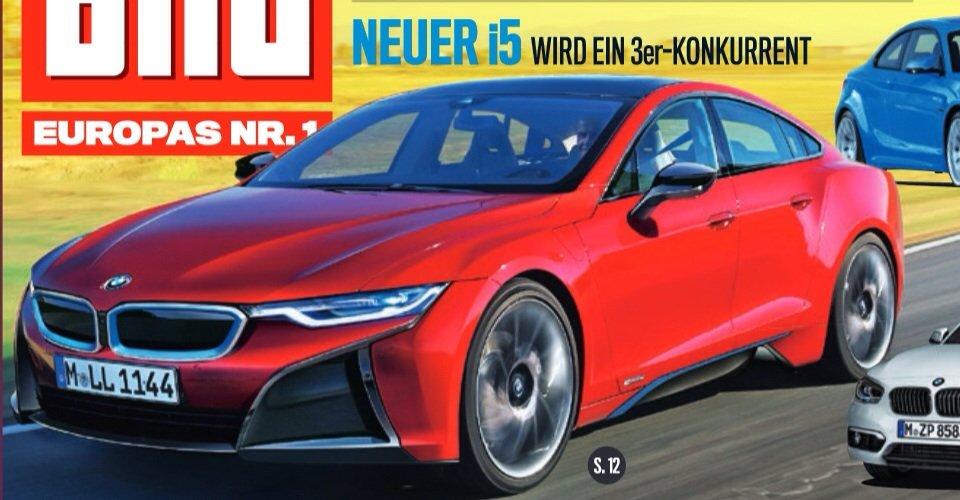 BMW i5 được xác định sẽ cạnh tranh với Tesla Model S.