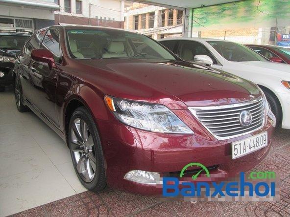 Salon ô tô Chính Hùng cần bán gấp Lexus LS 600H L năm 2008, màu đỏ đã đi 75640 km-1
