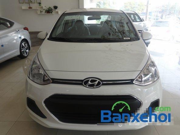 Hyundai An Sương cần bán xe Hyundai i10 Grand đời 2015, màu trắng, giá 387Tr-0