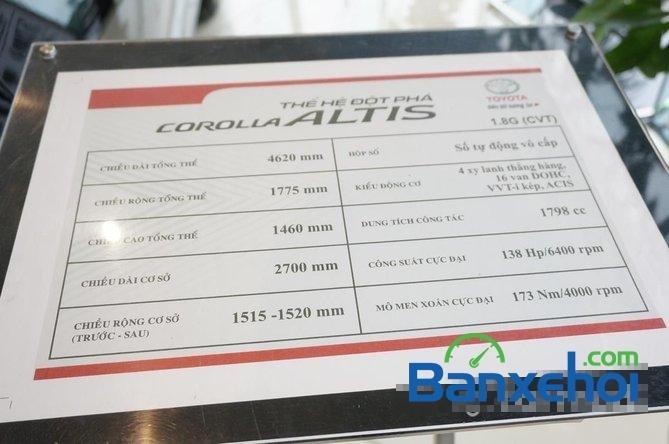 Toyota Mỹ Đình - CN Cầu Diễn I New Car bán Toyota Corolla Altis 1.8 G đời 2015, màu đen, giá 815Tr-9