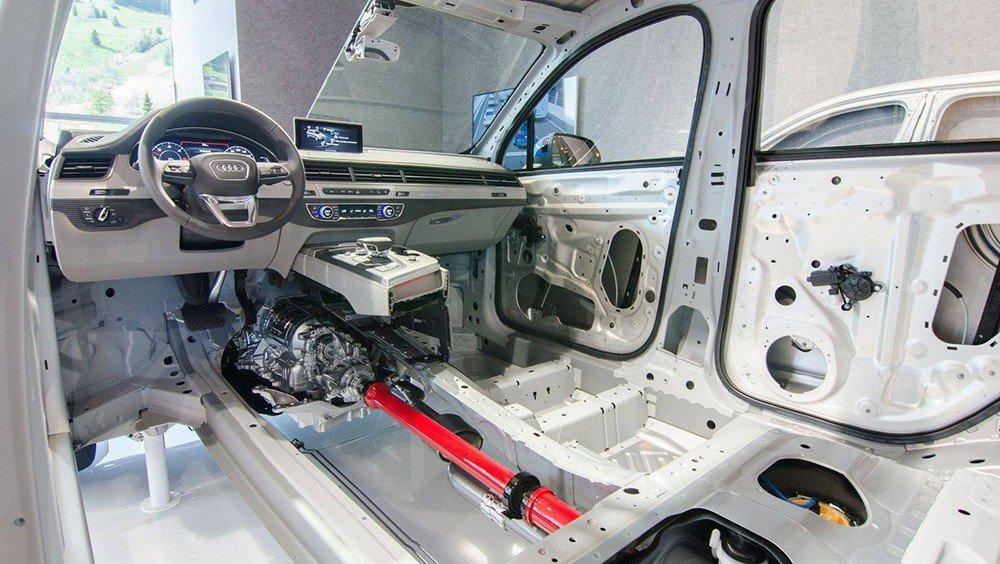Hệ thống khung gầm của Audi Q7 2016.