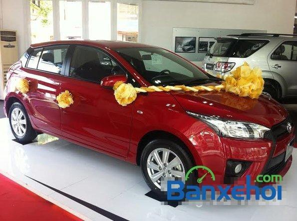 Cần bán xe Toyota Yaris 1.3E đời 2015, màu đỏ - Hỗ trợ vay mua xe trả góp-2