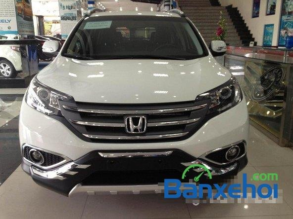 Cần bán Honda CR V đời 2014, màu trắng, giá 1 tỷ 150tr-1