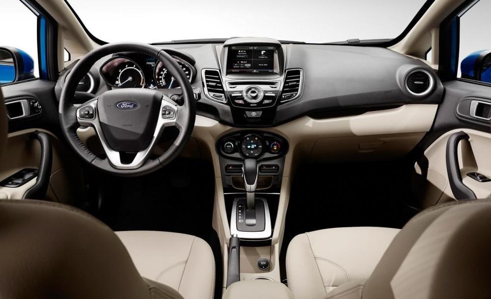 Bán ô tô Ford Fiesta đời 2014, màu trắng-4