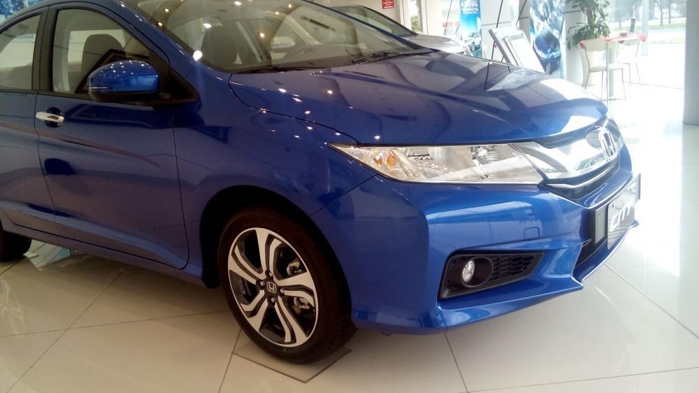 Cần bán Honda City sản xuất 2015, xe màu xanh lam-1