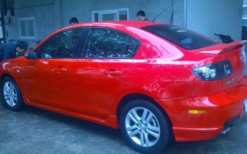 Cần bán lại xe Mazda 2 đời 2009, màu đỏ, nhập khẩu-3