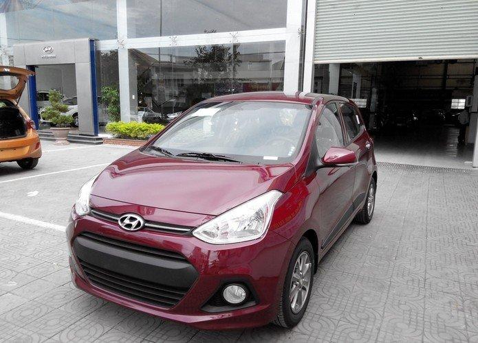 Cần bán xe Hyundai i10 đời 2015, màu đỏ, nhập khẩu chính hãng-0