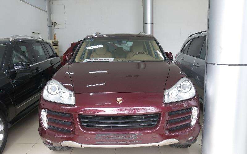 Bán xe Porsche Cayenne đời 2008, màu đỏ, nhập khẩu chính hãng-0