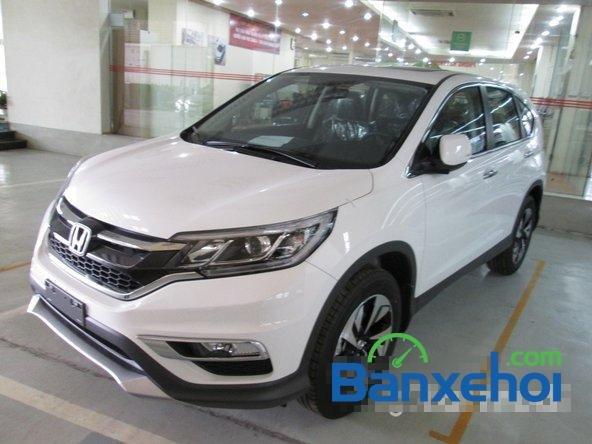 Bán xe Honda CR V 2.4L sản xuất 2015, màu trắng. Xe sử dụng nhiên liệu xăng-1