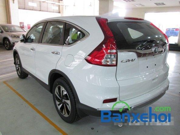 Bán xe Honda CR V 2.4L sản xuất 2015, màu trắng. Xe sử dụng nhiên liệu xăng-3