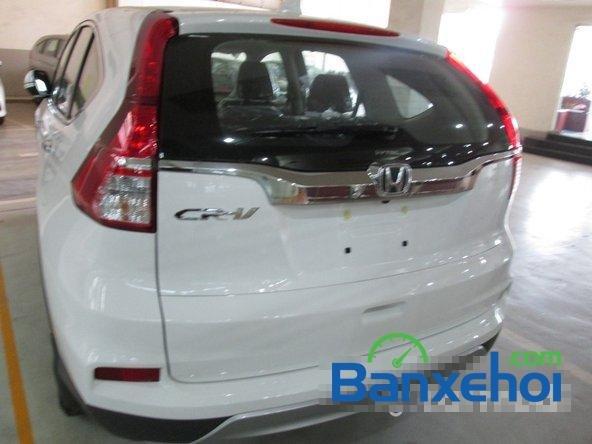 Bán xe Honda CR V 2.4L sản xuất 2015, màu trắng. Xe sử dụng nhiên liệu xăng-4