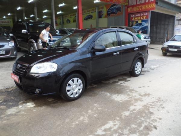 Xe Daewoo Gentra đời 2009, màu đen, xe đẹp-0