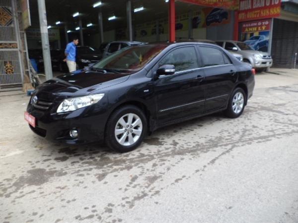 Cần bán lại xe Toyota Corolla Altis đời 2009, màu đen, số tự động -1