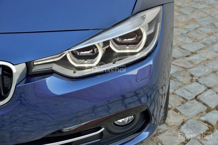 Hốc gió phía dưới của BMW 3-Series 2016 được trang trí khác nhau ở các phiên bản khác nhau.