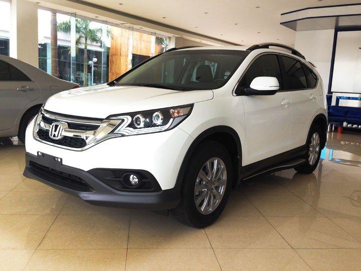 Bán Honda CR V đời 2015, màu trắng, giá cực tốt-0