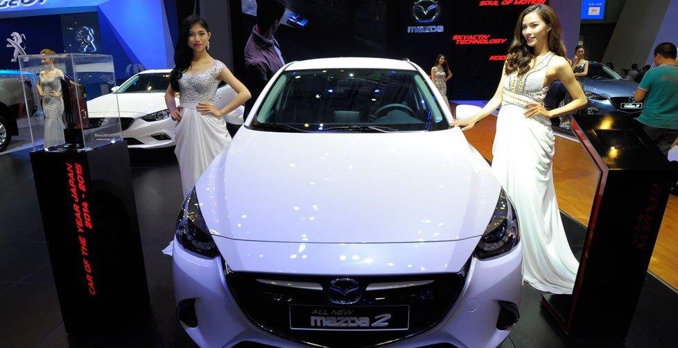 Thaco ra mắt Mazda 2 mới tại VMS 2015 1