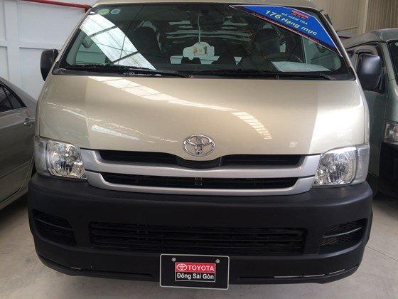 Toyota Đông Sài Gòn – Trung tâm xe đã qua sử dụng bán xe Toyota Hiace 2009, màu ghi vàng, 111,700 km-3