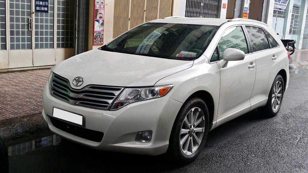 Bán Toyota Venza 2.7 L sản xuất năm 2009 màu trắng nội thất kem xe đẹp-0