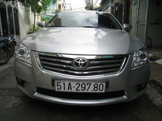 Gia đình bán Toyota Camry 2.4L sản xuất cuối 2012, màu bạc, nội thất màu da kem rất đẹp-0