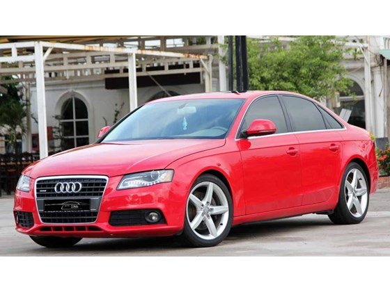 Bán Audi A4 đời 2009, màu đỏ, nhập khẩu-0