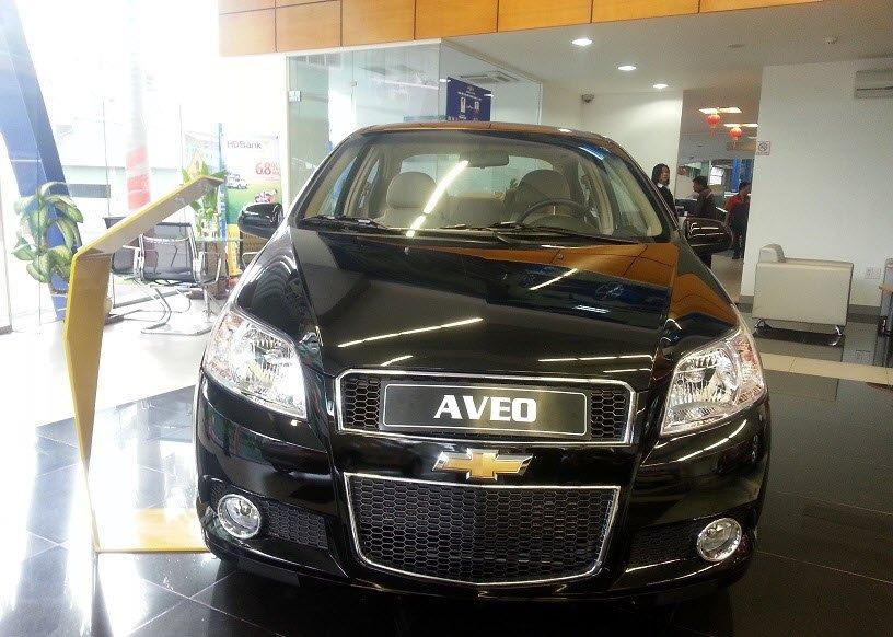 Bán ô tô Chevrolet Aveo đời 2015, màu đen-1