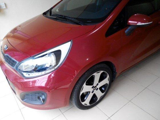 Cần bán lại xe Kia Rio đời 2013, màu đỏ, nhập khẩu nguyên chiếc-0