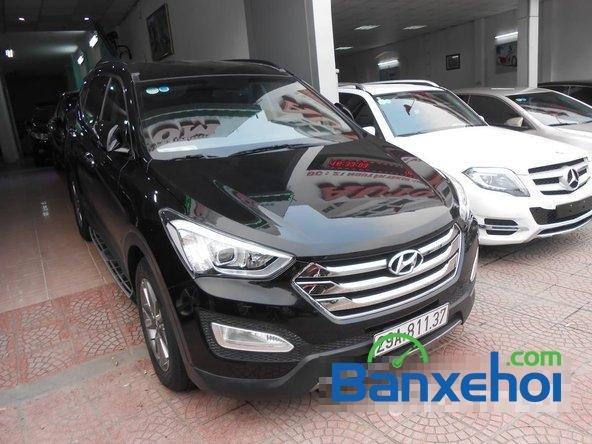 Cần bán xe Hyundai Santa Fe SLX đời 2013, màu đen đã đi 30000 km-1
