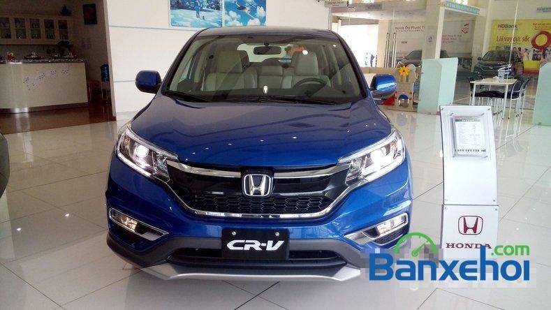 Cần bán Honda CR V 2.0AT đời 2015, màu xanh lam-0