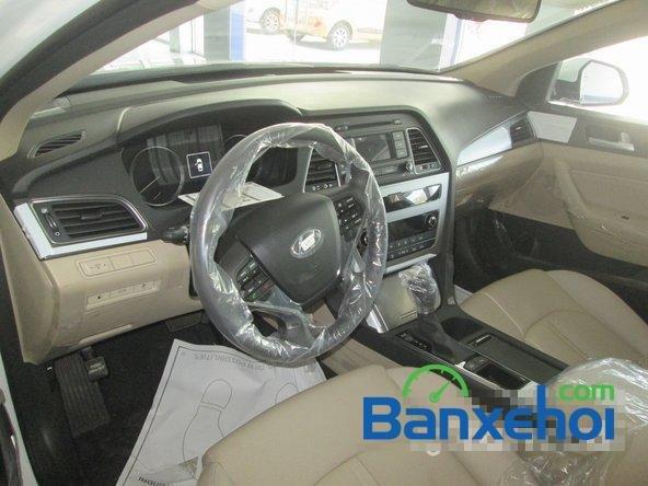 Bán ô tô Hyundai Sonata đời 2015, màu trắng-8