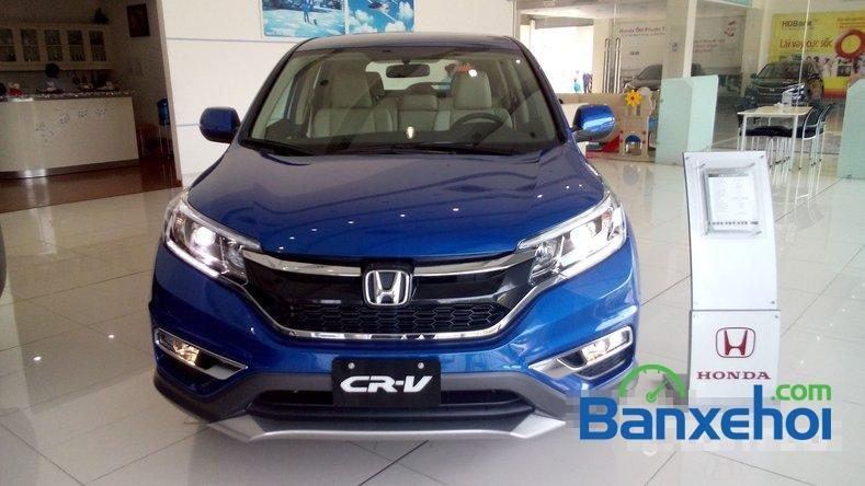 Cần bán Honda CR V 2.0AT đời 2015, màu xanh lam-3
