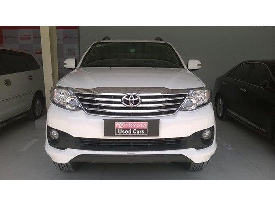 Xe Toyota Fortuner sản xuất 2015, màu trắng cần bán-0