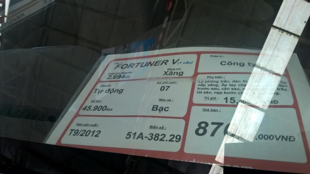 Xe Toyota Fortuner đời 2012, màu bạc, xe nhập, giá tốt-7