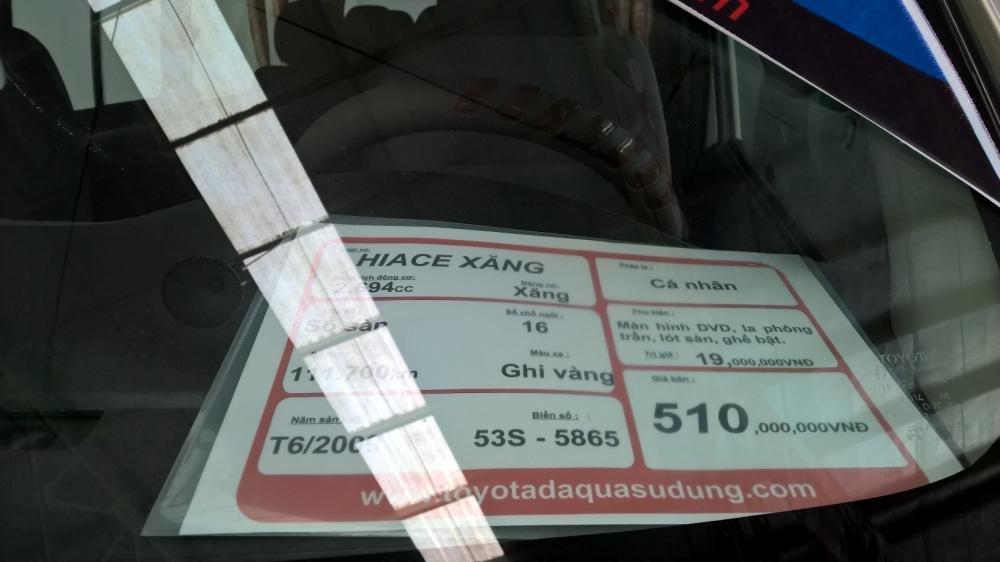 Toyota Đông Sài Gòn xe đã qua sử dụng đang bán Hiace màu ghi vàng-4