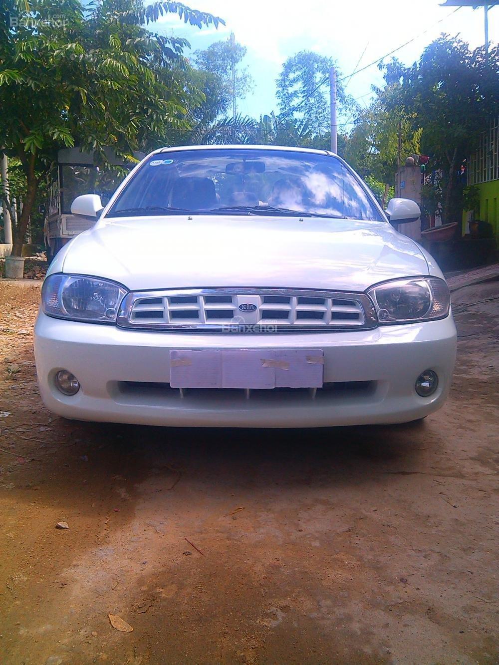 Cần bán Kia Spectra 2003, màu trắng, giá chỉ 205 triệu,xe gia đình-1